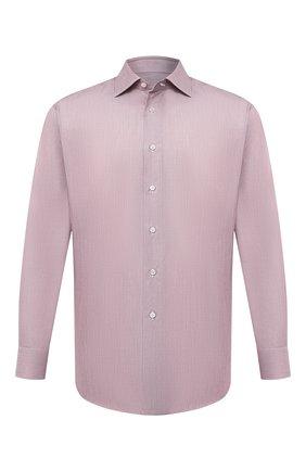 Мужская хлопковая сорочка BRIONI розового цвета, арт. RCB10M/0909W | Фото 1
