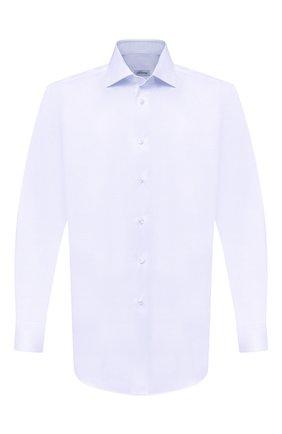 Мужская хлопковая сорочка BRIONI голубого цвета, арт. RCB10L/PZ003 | Фото 1