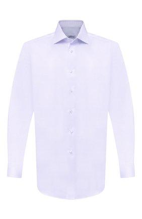 Мужская хлопковая сорочка BRIONI сиреневого цвета, арт. RCB10L/PZ003 | Фото 1