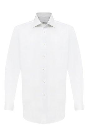 Мужская хлопковая сорочка BRIONI белого цвета, арт. RCB10L/PZ003 | Фото 1