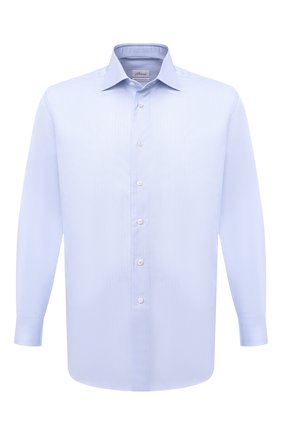 Мужская хлопковая сорочка BRIONI голубого цвета, арт. RCB10L/0905F | Фото 1