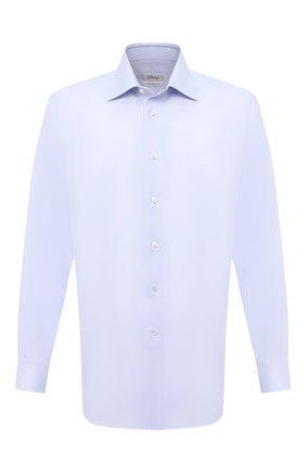 Мужская хлопковая сорочка BRIONI голубого цвета, арт. RCA20M/P7003 | Фото 1