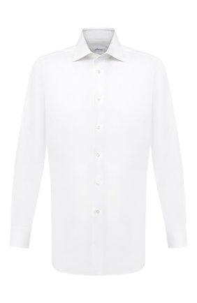 Мужская хлопковая сорочка BRIONI белого цвета, арт. RCA20M/P7003 | Фото 1