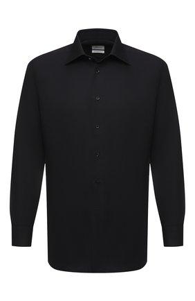 Мужская хлопковая сорочка BRIONI черного цвета, арт. RCA20M/0906N | Фото 1