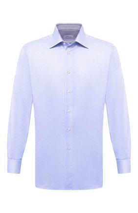 Мужская хлопковая сорочка BRIONI голубого цвета, арт. RCA10L/PZ034 | Фото 1