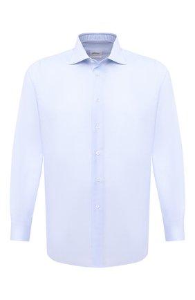 Мужская хлопковая сорочка BRIONI голубого цвета, арт. RCA10L/0905G | Фото 1