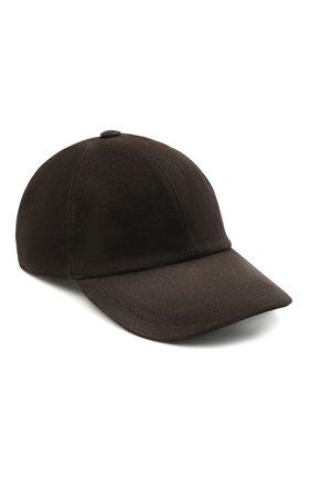 Мужской замшевая бейсболка BRIONI темно-коричневого цвета, арт. 04810L/08735 | Фото 1