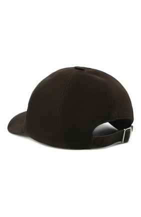 Мужской замшевая бейсболка BRIONI темно-коричневого цвета, арт. 04810L/08735 | Фото 2