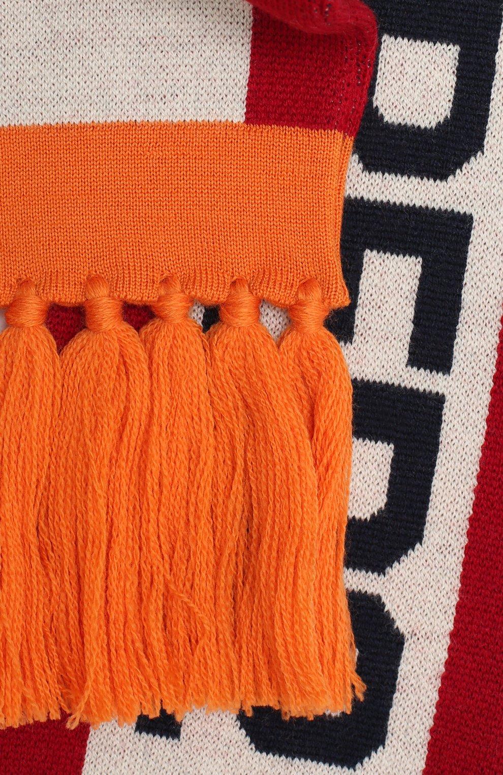 Мужской шерстяной шарф DSQUARED2 разноцветного цвета, арт. KNM0046 01WJ0387 | Фото 2