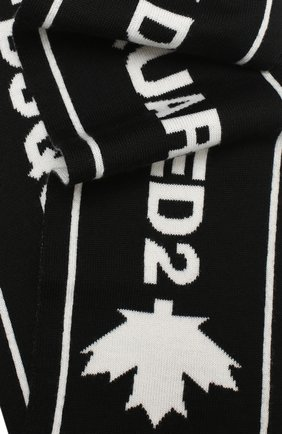 Мужской шерстяной шарф DSQUARED2 черного цвета, арт. KNM0046 01WJ0386   Фото 2