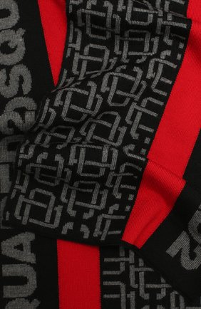 Мужской шерстяной шарф DSQUARED2 черного цвета, арт. KNM0045 01W03172   Фото 2