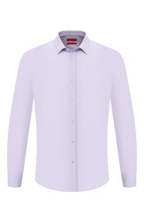 Мужская хлопковая сорочка HUGO сиреневого цвета, арт. 50418107 | Фото 1