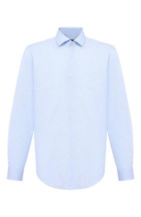 Мужская хлопковая сорочка BOSS голубого цвета, арт. 50439184 | Фото 1