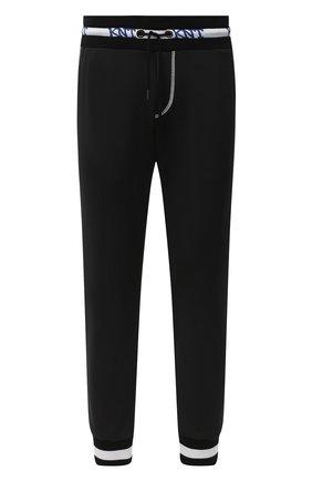Мужские джоггеры KNT черного цвета, арт. UPKN002J02T34 | Фото 1 (Материал внешний: Лиоцелл, Хлопок; Длина (брюки, джинсы): Стандартные; Силуэт М (брюки): Джоггеры; Стили: Спорт-шик)