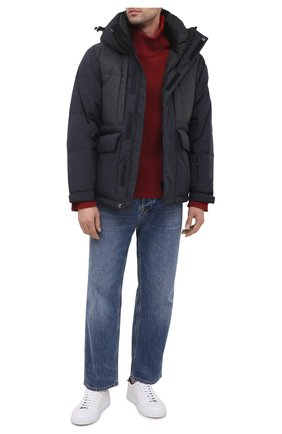 Мужская пуховая куртка KNT темно-синего цвета, арт. UGKN003X03T33 | Фото 2 (Рукава: Длинные; Материал подклада: Синтетический материал; Длина (верхняя одежда): Короткие; Материал внешний: Синтетический материал; Мужское Кросс-КТ: Верхняя одежда, Пуховик-верхняя одежда, пуховик-короткий; Стили: Кэжуэл; Кросс-КТ: Пуховик, Куртка)