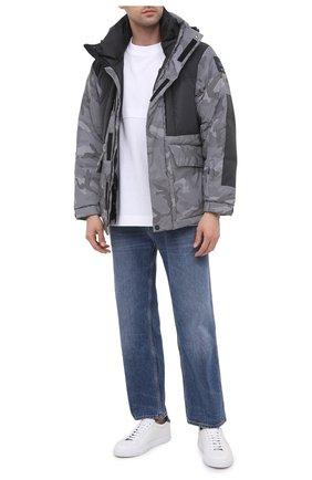 Мужская пуховая куртка KNT серого цвета, арт. UGKN003X01T82 | Фото 2 (Материал внешний: Синтетический материал; Рукава: Длинные; Материал подклада: Синтетический материал; Мужское Кросс-КТ: Верхняя одежда, Пуховик-верхняя одежда, пуховик-короткий; Стили: Кэжуэл; Кросс-КТ: Пуховик, Куртка)