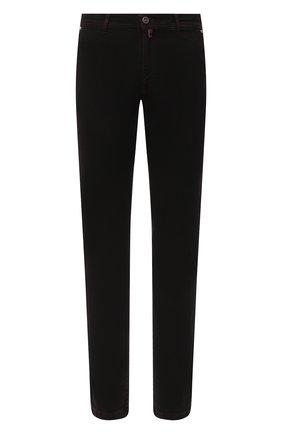 Мужские джинсы KITON черного цвета, арт. UFPPTM/J02T84   Фото 1