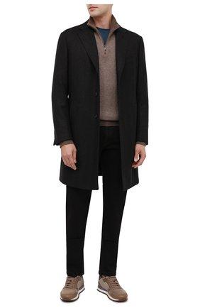 Мужские джинсы KITON черного цвета, арт. UFPPTM/J02T84   Фото 2