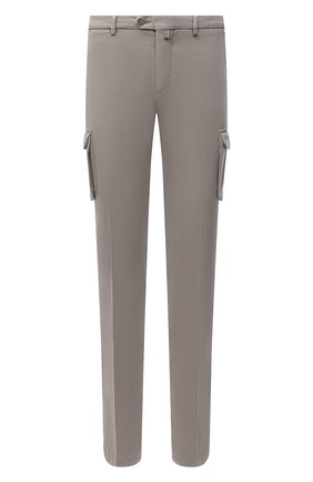 Мужские брюки-карго из хлопка и кашемира KITON темно-бежевого цвета, арт. UFPPCAJ02T42 | Фото 1