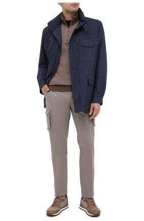 Мужские брюки-карго из хлопка и кашемира KITON темно-бежевого цвета, арт. UFPPCAJ02T42 | Фото 2