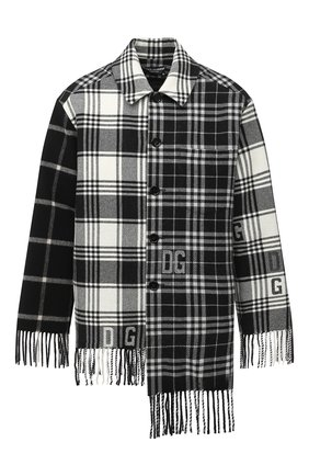 Мужская шерстяная куртка DOLCE & GABBANA черно-белого цвета, арт. G9TN1T/G7XAC | Фото 1