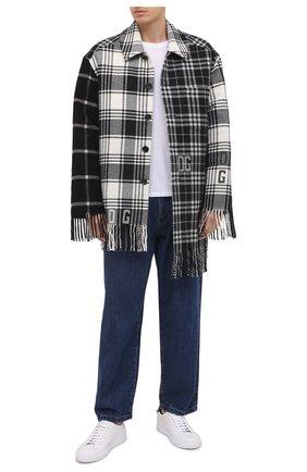 Мужская шерстяная куртка DOLCE & GABBANA черно-белого цвета, арт. G9TN1T/G7XAC | Фото 2