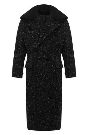 Мужской пальто из шерсти и хлопка DOLCE & GABBANA серого цвета, арт. G024TT/FMMF3 | Фото 1
