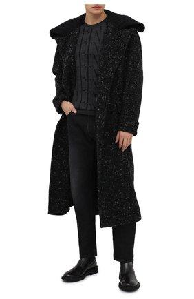 Мужской пальто из шерсти и хлопка DOLCE & GABBANA серого цвета, арт. G024TT/FMMF3 | Фото 2