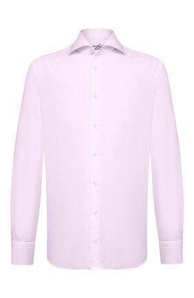 Мужская хлопковая сорочка VAN LAACK розового цвета, арт. RIVARA-SFN/132241 | Фото 1 (Материал внешний: Хлопок; Длина (для топов): Стандартные; Рукава: Длинные; Мужское Кросс-КТ: Сорочка-одежда; Случай: Формальный; Принт: Однотонные; Стили: Классический; Манжеты: На пуговицах; Воротник: Акула)