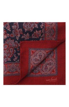 Мужской шерстяной платок VAN LAACK бордового цвета, арт. LE0N/Z10326   Фото 1