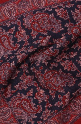 Мужской шерстяной платок VAN LAACK бордового цвета, арт. LE0N/Z10326   Фото 2