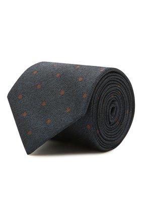 Мужской шелковый галстук VAN LAACK синего цвета, арт. LER0Y/K04138 | Фото 1