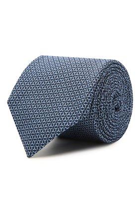 Мужской шелковый галстук VAN LAACK темно-синего цвета, арт. LER0Y/K04148 | Фото 1
