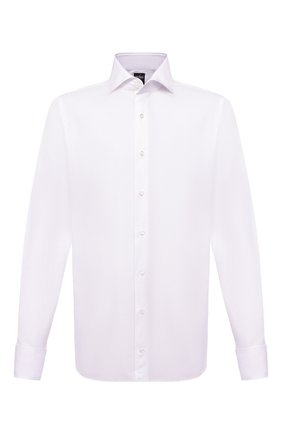 Мужская хлопковая сорочка VAN LAACK белого цвета, арт. MES0-DSF/160947 | Фото 1 (Длина (для топов): Стандартные; Рукава: Длинные; Материал внешний: Хлопок; Случай: Формальный; Стили: Классический)