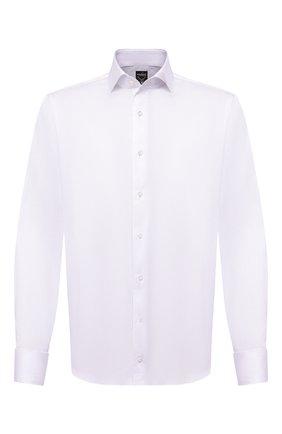 Мужская хлопковая сорочка VAN LAACK белого цвета, арт. MIVARA-DTF/160188 | Фото 1 (Длина (для топов): Стандартные; Материал внешний: Хлопок; Рукава: Длинные; Случай: Формальный; Стили: Классический)