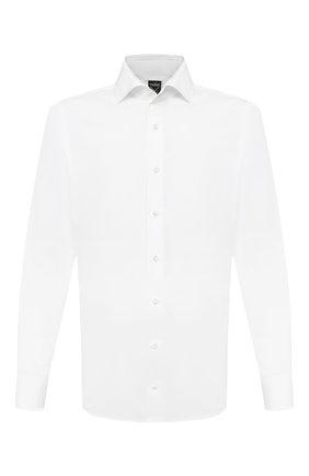 Мужская хлопковая сорочка VAN LAACK белого цвета, арт. MIVARA-SF/150005 | Фото 1 (Рукава: Длинные; Длина (для топов): Стандартные; Материал внешний: Хлопок; Мужское Кросс-КТ: Сорочка-одежда; Случай: Формальный; Принт: Однотонные; Стили: Классический; Манжеты: На пуговицах; Воротник: Акула)