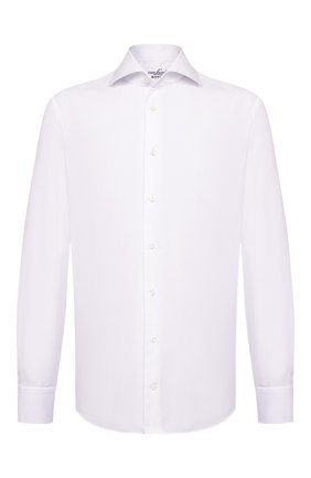 Мужская хлопковая сорочка VAN LAACK белого цвета, арт. RAND0-SF/160061 | Фото 1 (Материал внешний: Хлопок; Рукава: Длинные; Длина (для топов): Стандартные; Случай: Формальный; Стили: Классический; Воротник: Кент)