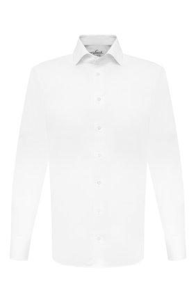 Мужская хлопковая сорочка VAN LAACK белого цвета, арт. RIVARA-TFN/150018 | Фото 1 (Рукава: Длинные; Материал внешний: Хлопок; Длина (для топов): Стандартные; Случай: Формальный; Стили: Классический; Принт: Однотонные; Манжеты: На пуговицах; Мужское Кросс-КТ: Сорочка-одежда; Воротник: Акула)