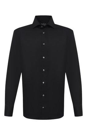 Мужская хлопковая сорочка VAN LAACK черного цвета, арт. RIVARA-TFN/150018 | Фото 1 (Рукава: Длинные; Материал внешний: Хлопок; Длина (для топов): Стандартные; Случай: Формальный; Стили: Классический; Принт: Однотонные; Воротник: Акула; Мужское Кросс-КТ: Сорочка-одежда; Манжеты: На пуговицах)