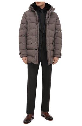 Мужская хлопковая сорочка VAN LAACK черного цвета, арт. RIVARA-TFN/150018 | Фото 2 (Рукава: Длинные; Материал внешний: Хлопок; Длина (для топов): Стандартные; Случай: Формальный; Стили: Классический; Принт: Однотонные; Воротник: Акула; Мужское Кросс-КТ: Сорочка-одежда; Манжеты: На пуговицах)