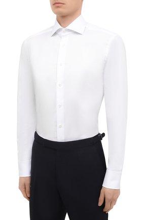 Мужская хлопковая сорочка VAN LAACK белого цвета, арт. RIVARA-TFN/150046 | Фото 3