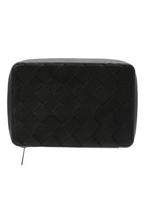 Мужская кожаный футляр для документов BOTTEGA VENETA черного цвета, арт. 629700/VCQT4 | Фото 1