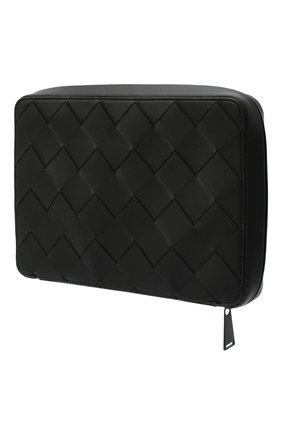 Мужская кожаный футляр для документов BOTTEGA VENETA черного цвета, арт. 629700/VCQT4 | Фото 2