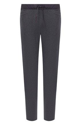 Мужские хлопковые домашние брюки HANRO темно-серого цвета, арт. 075435 | Фото 1