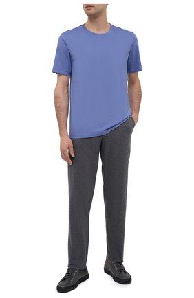 Мужские хлопковые домашние брюки HANRO темно-серого цвета, арт. 075435 | Фото 2