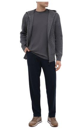 Мужские брюки MARCO PESCAROLO темно-синего цвета, арт. BAIA/4299 | Фото 2