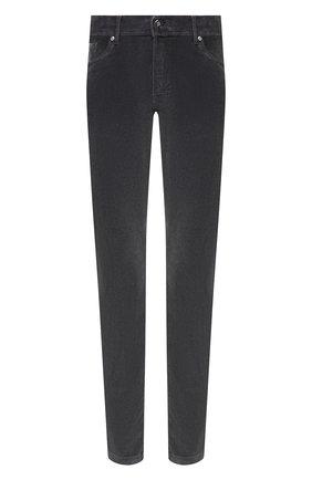 Мужские брюки из хлопка и кашемира MARCO PESCAROLO темно-серого цвета, арт. NERAN0M18/4205   Фото 1
