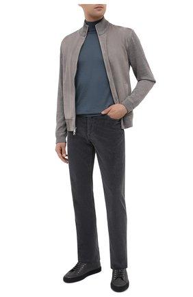 Мужские брюки из хлопка и кашемира MARCO PESCAROLO темно-серого цвета, арт. NERAN0M18/4205   Фото 2