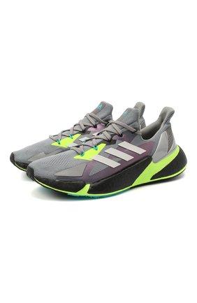 Мужские текстильные кроссовки x9000l4 ADIDAS ORIGINALS серого цвета, арт. FW8385 | Фото 1