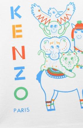 Детский хлопковый лонгслив KENZO разноцветного цвета, арт. KR10503 | Фото 3